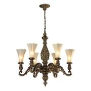 Elk Lighting Allesandria 6 Light Chandelier; Dimmable 300 Lumens 5W LED Bulb