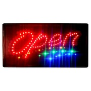 DSD Group 10'' x 19'' Animated Motion LED Neon Light Open Sign