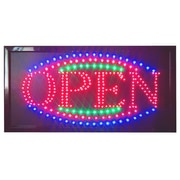 DSD Group 12'' x 23'' Animated LED Open Sign