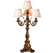 River of Goods Downton Abbey 32.5'' H Four-Arm Table Lamp with Empire Shade