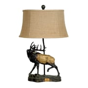 Crestview The Challenge 28.25'' H Table Lamp with Bell Shade
