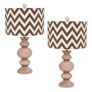 EC World Imports Urban 26'' Table Lamp Set (Set of 2); Chocolate Milkshake