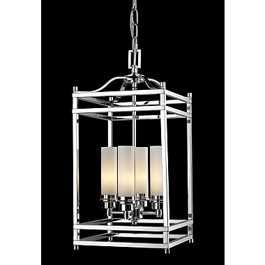 Z-Lite Altadore 4 Light Metal Foyer Pendant; Chrome