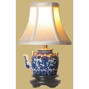 Oriental Furniture Tea Pot 12'' H Table Lamp with Bell Shade