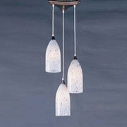 Elk Lighting Verona 3 Light Pendant; Satin Nickel and Snow White Glass