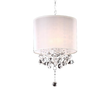 OK Lighting 3-Light Drum Chandelier