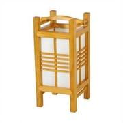 Oriental Furniture Tall Akida 14'' H Table Lamp w/ Rectangular Shade; Honey