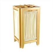 Oriental Furniture Helsinki 18'' H Table Lamp w/ Rectangular Shade; Honey