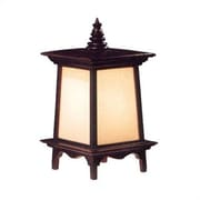 Oriental Furniture Decorative Oriental Puggi 18'' H Table Lamp with Rectangular Shade