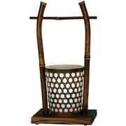 Oriental Furniture Japanese Rice Bucket 16'' H Table Lamp with Drum Shade