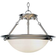 Monument Lunar Bay 2-Light Inverted Pendant; 15.5''