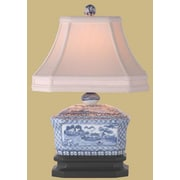 Oriental Furniture Canton Tea Candy Box 15'' Table Lamp