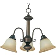 Maxim Lighting Malaga 3-Light Chandelier; Oil Rubbed Bronze with Wilshire Shade