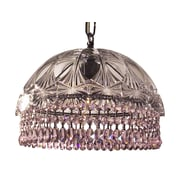 Classic Lighting Prague Color 1 Light Bowl Pendant; Crystalique Pink