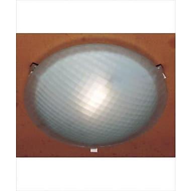 PLC Lighting Nuova 1-Light Flush Mount; Rust / 4.5'' H x 20'' W / J118mm