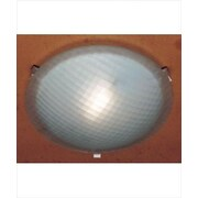 PLC Lighting Nuova 1 Light Flush Mount; Rust / 4.5'' H x 20'' W / J118mm