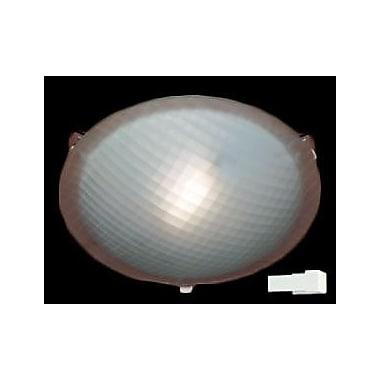 PLC Lighting Nuova 1 Light Flush Mount; White / 3.5'' H x 12'' W / J118mm