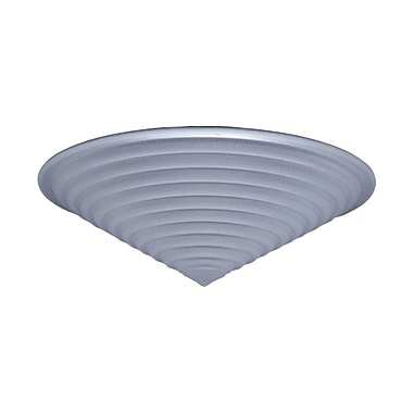 PLC Lighting Valencia 8'' Flush Mount; Black / 4.5'' H x 20'' W / J118mm