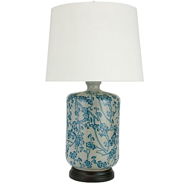 Oriental Furniture Cherry Blossom 25'' Table Lamp