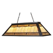 Landmark Lighting Tiffany Game Room 4 Light Billiard Light; Tiffany Bronze Metal