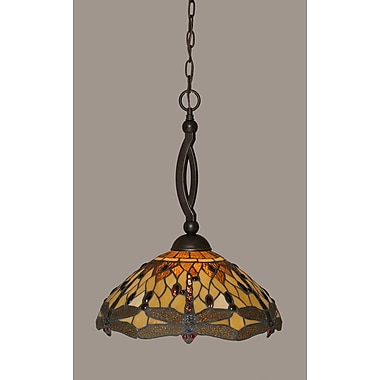 Toltec Lighting Bow 1 Light Pendant