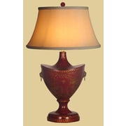 Oriental Furniture Lacquer Oval 24'' H Table Lamp w/ Bell Shade