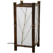 Oriental Furniture Japanese Hayashi 17.5'' H Table Lamp with Rectangular Shade