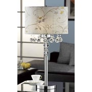 OK Lighting Crystal Ball 31'' H Table Lamp with Drum Shade