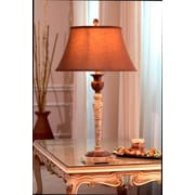 Lex Lighting Chocolate and Fossil Marble 32'' H Table Lamp with Bell Shade