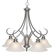 Wildon Home   Emory 5 Light Nook Chandelier; Pewter