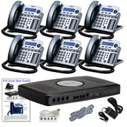 X16 Office Telephone System with (6) Titanium Phones (XB1606TM)