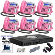 X16 Office Telephone System with (6) Pink Phones (XB1606PK)