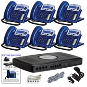 X16 Office Telephone System with (6) Vivid Blue Phones (XB1606VB)