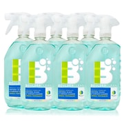 Boulder Clean Natural Glass & Surface Cleaner, Herbal Peppermint, 28 oz - 6/Pack