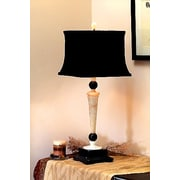 Lex Lighting Cream and Black 32.5'' H Table Lamp with Square Shade