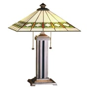 Meyda Tiffany Diamond Mission 24'' H Table Lamp with Cone Shade