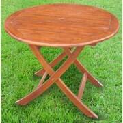 International Caravan Acacia Patio 38'' Round Folding Dining Table