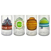 Artland Upcycle Fun in the Sun Juice Glass (Set of 4)