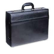 Mancini Business Leather Attache Case; Black
