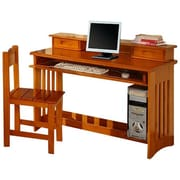 Discovery World Furniture Weston Computer Desk; Honey