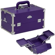 Sunrise Cases Professional Beauty Makeup Train Case; Purple
