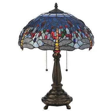 Meyda Tiffany Hanginghead Dragonfly 22'' Table Lamp