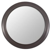 Decor Therapy Woodgrain Round Wall Mirror