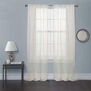 Lush Decor Bright Morning Curtain Panel (Set of 2); Ivory