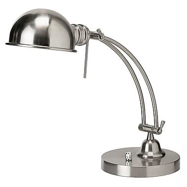 Dainolite 18'' Table Lamp; Satin Chrome