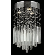 Worldwide Lighting Torrent 3 Light Semi Flush Mount; Clear