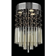 Worldwide Lighting Torrent 3 Light Semi Flush Mount; Golden Teak