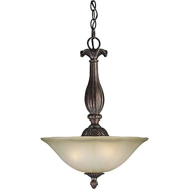 forte lighting 3 light bowl inverted pendant staples. Black Bedroom Furniture Sets. Home Design Ideas