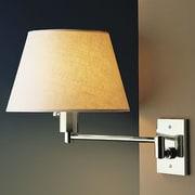 WPT Design Bilbao Swing Arm Wall Lamp; Brushed Brass