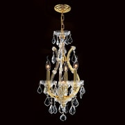 Worldwide Lighting Maria Theresa 4 Light Crystal Chandelier; Gold